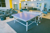 Challenge a friend to a game of ping pong in the community center or grab a coffee before class at the coffee bar.