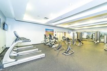 Stop in for a workout any time at the 24-hour fitness center with a variety of cardio machines to burn off those extra calories from the weekend.