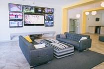 Take a study break and enjoy relaxing in the community centers with plush couches and flat screen TV's.